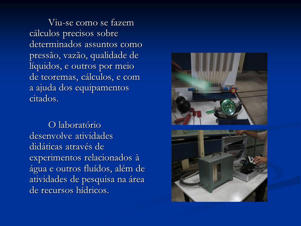 Visita ao laboratório de Saneamento II e Microbiologia Foi visitado o laboratório de Saneamento II e Microbiologia da UFCG, o qual está localizado no bloco CV do campus de Campina Grande.