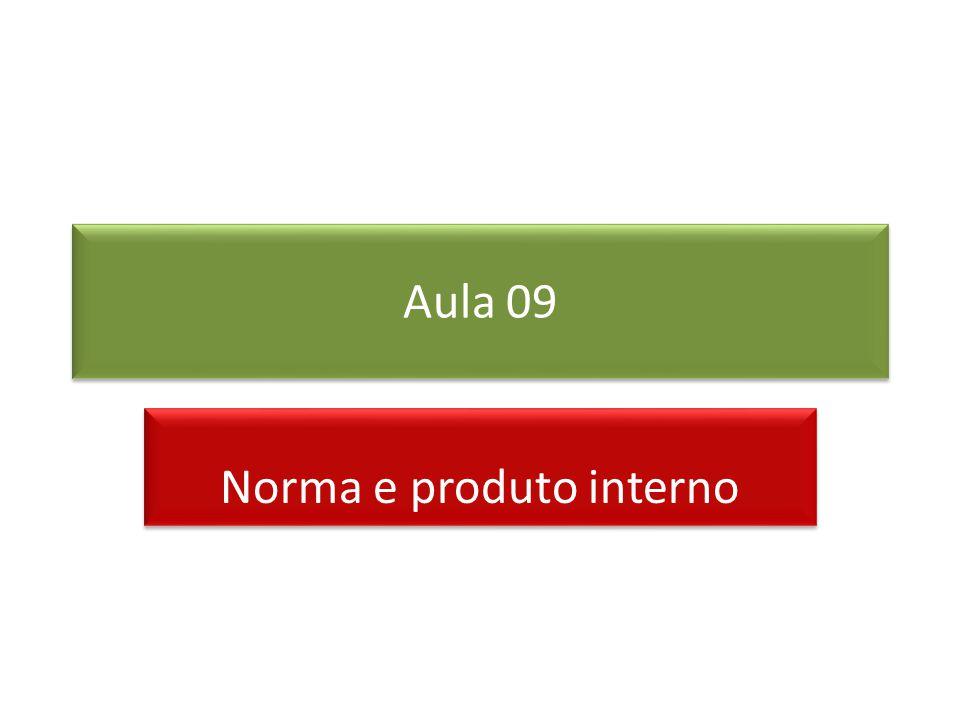 Aula 09 Norma e produto interno