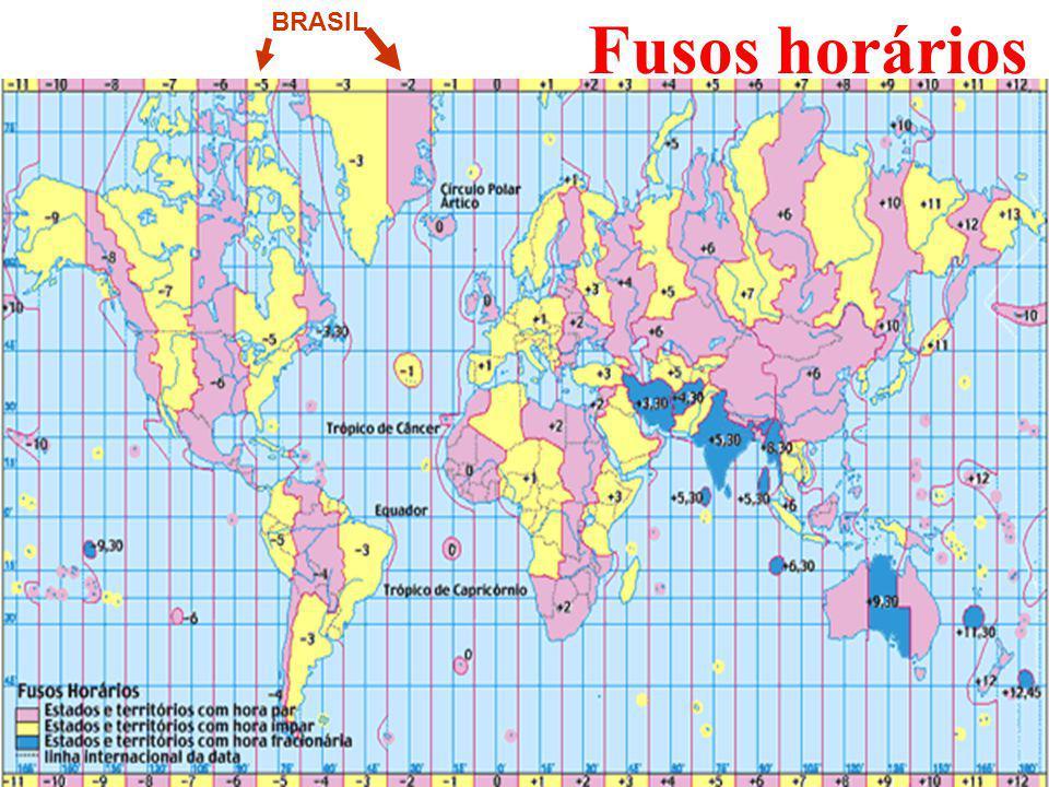 Fusos horários BRASIL