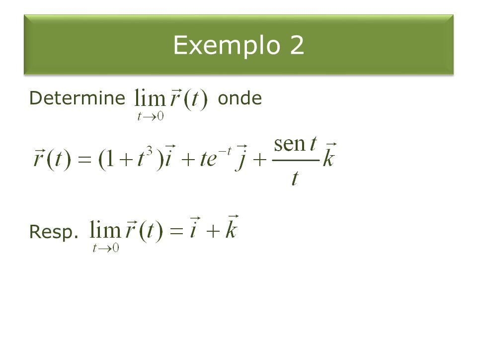 Exemplo 2 Determine onde Resp.