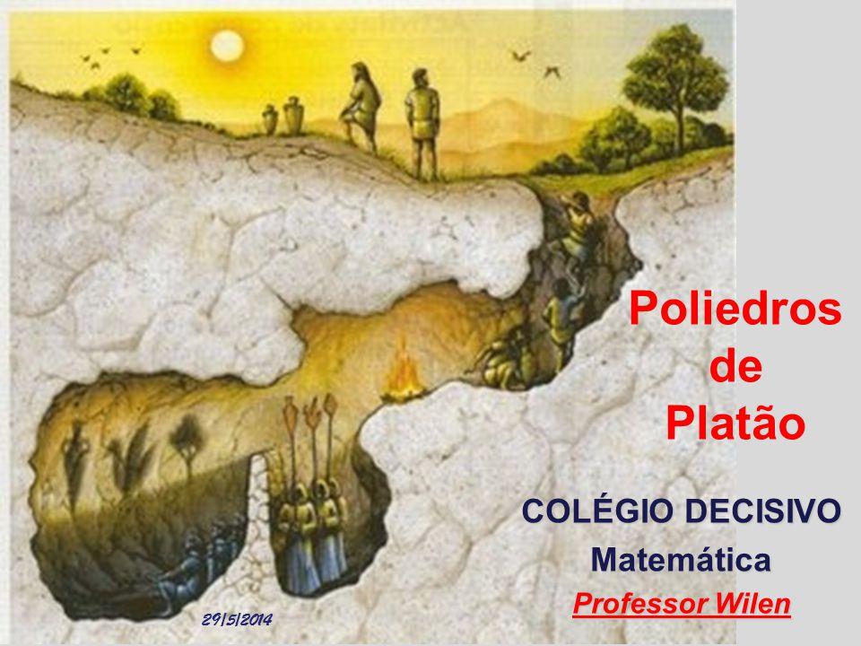 Poliedros de Platão COLÉGIO DECISIVO Matemática Professor Wilen 29/5/2014