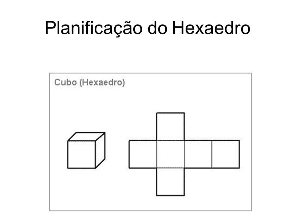 Octaedro 8 faces triangulares equiláteras; 4 arestas que convergem para cada vértice;