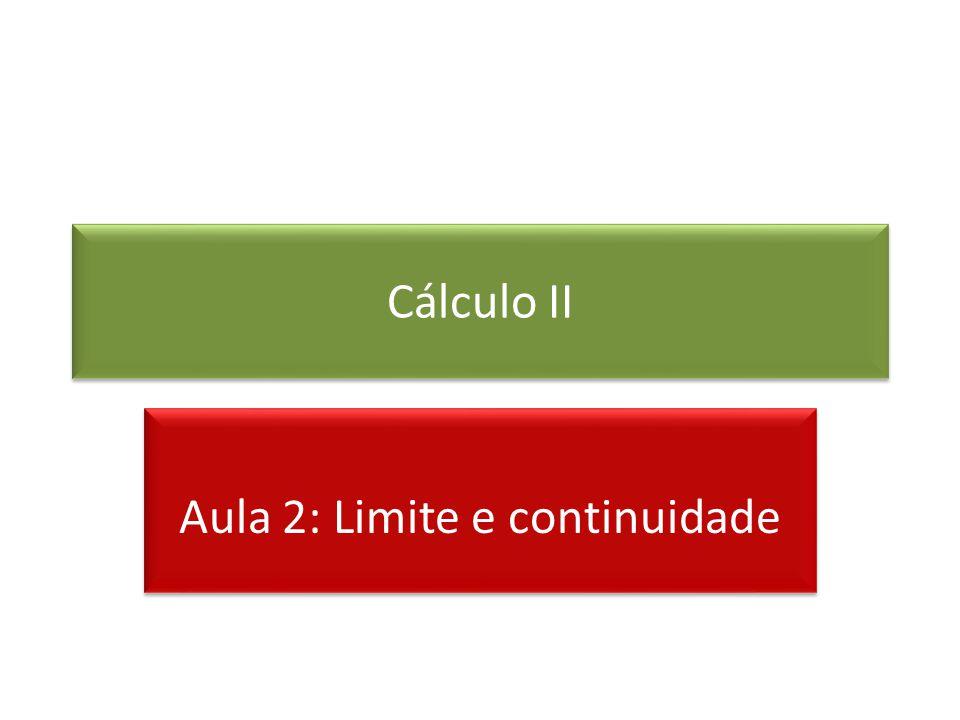 Cálculo II Aula 2: Limite e continuidade