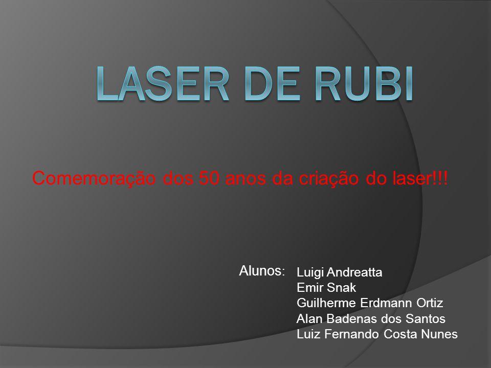 LASER Light Amplification by Stimulated Emission of Radiation, é um dispositivo que produz radiação eletromagnética com características especiais: 1) Quase Monocromática: possui estreita faixa de freqüências.