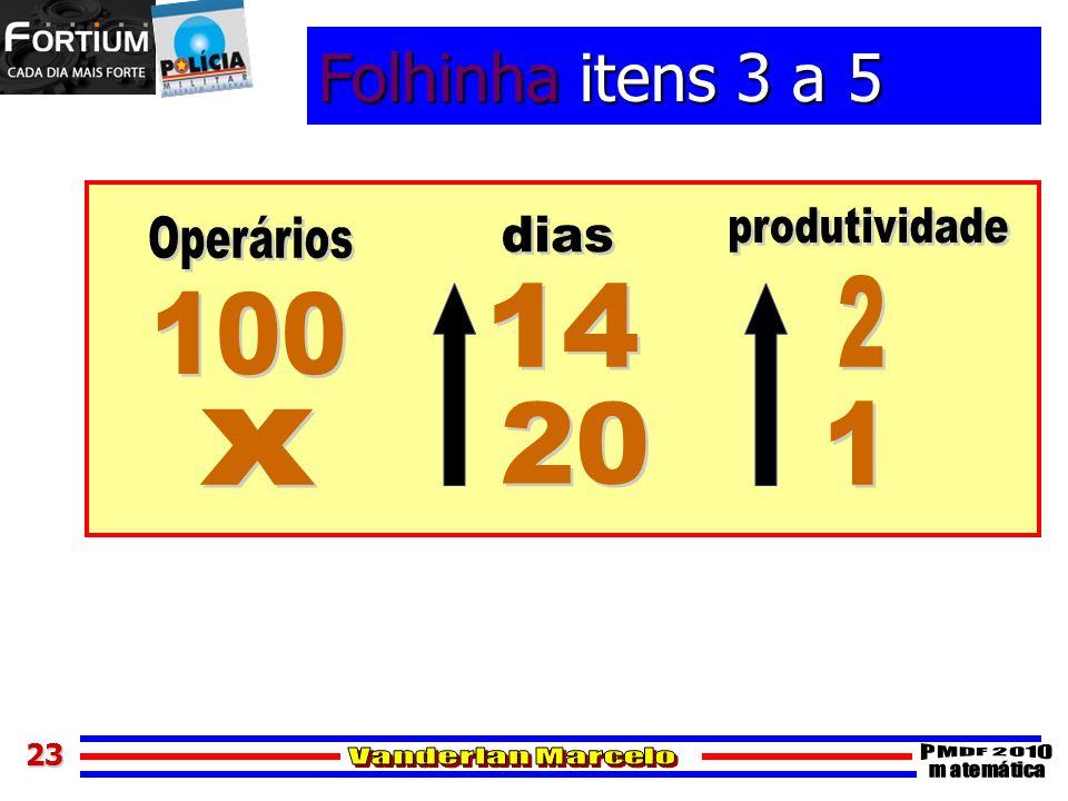 2323 Folhinha itens 3 a 5
