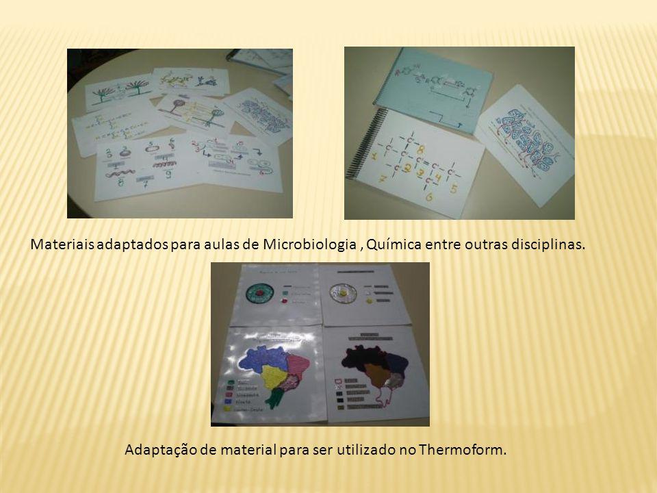 Materiais adaptados para aulas de Microbiologia, Química entre outras disciplinas.
