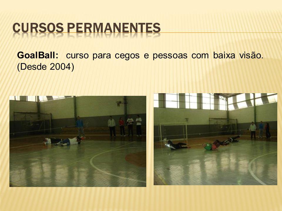 GoalBall: curso para cegos e pessoas com baixa visão. (Desde 2004)