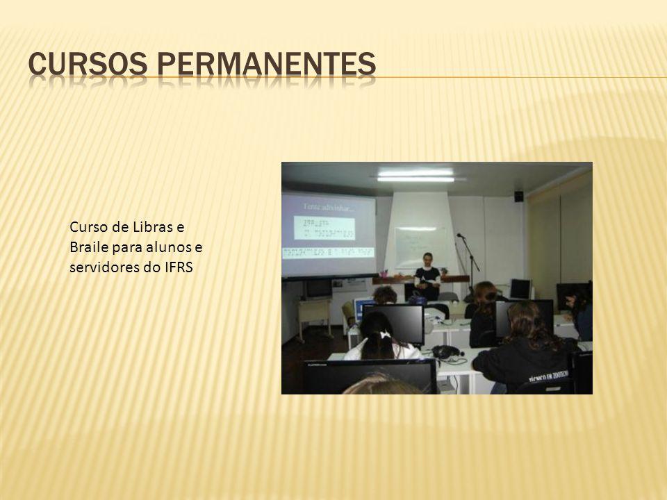 Curso de Libras e Braile para alunos e servidores do IFRS