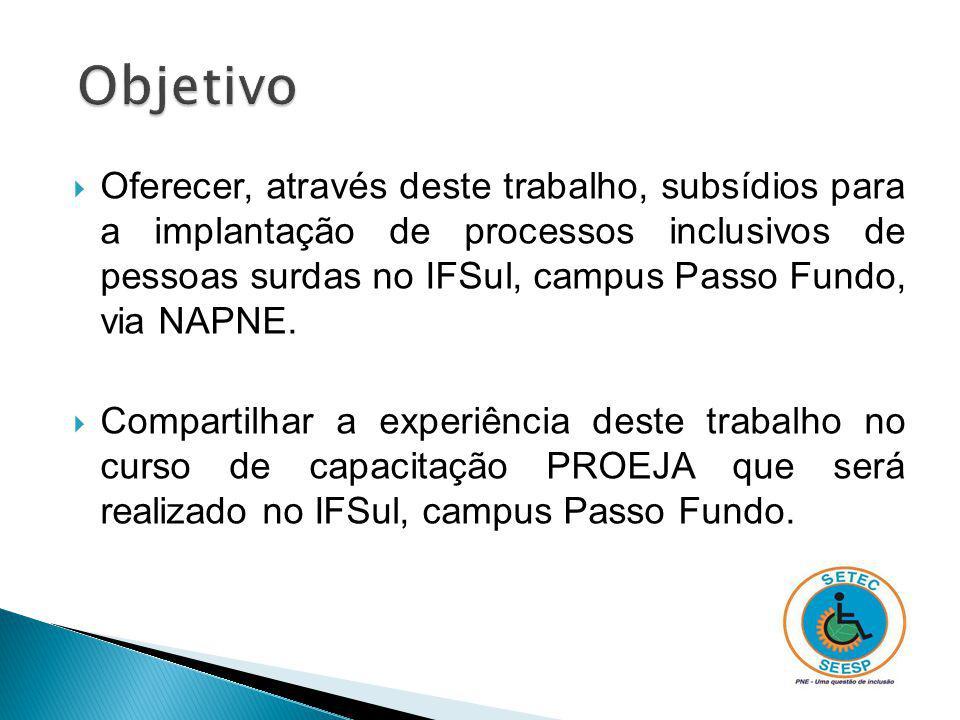 Módulo Inclusão – Este módulo do curso de capacitação PROEJA visa a formação docente na perspectiva inclusiva.
