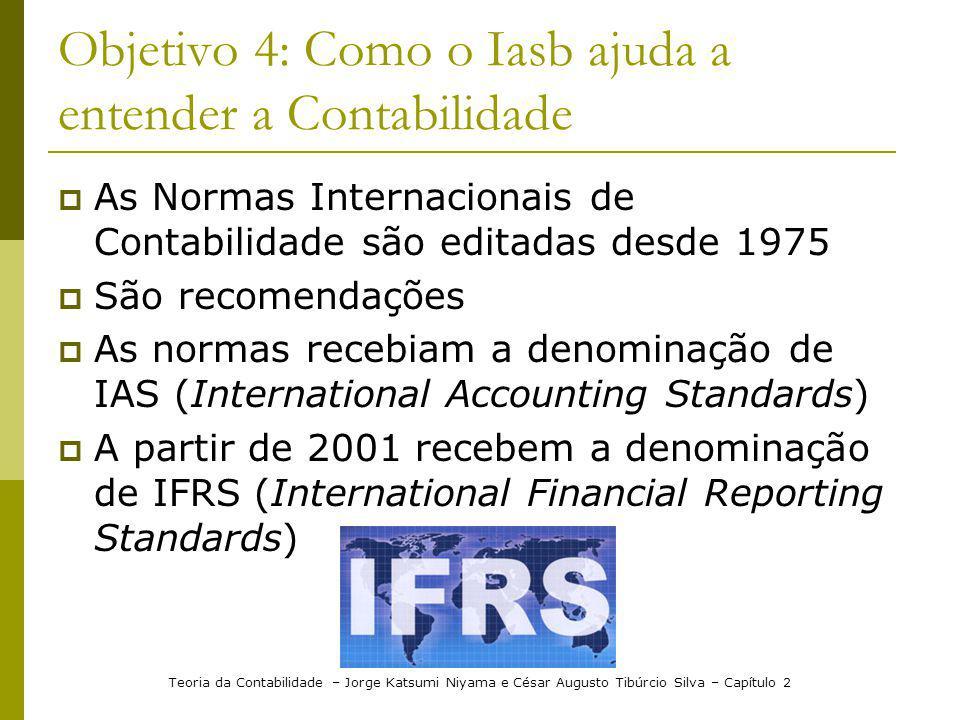 Teoria da Contabilidade – Jorge Katsumi Niyama e César Augusto Tibúrcio Silva – Capítulo 2 Objetivo 4: Como o Iasb ajuda a entender a Contabilidade As