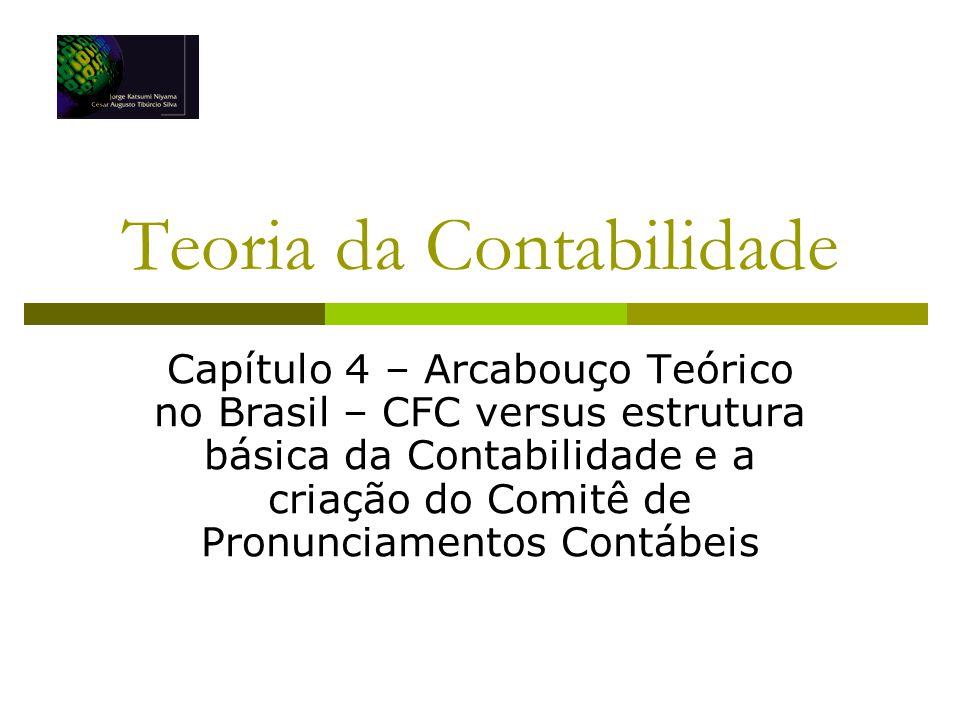 Teoria da Contabilidade Capítulo 4 – Arcabouço Teórico no Brasil – CFC versus estrutura básica da Contabilidade e a criação do Comitê de Pronunciament