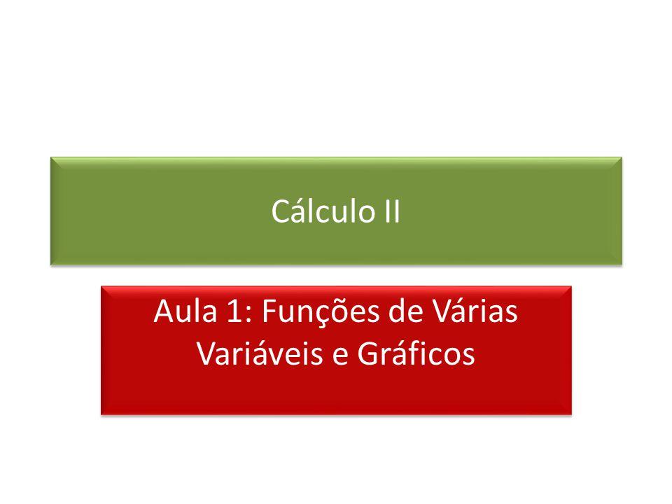 Cálculo II Aula 1: Funções de Várias Variáveis e Gráficos