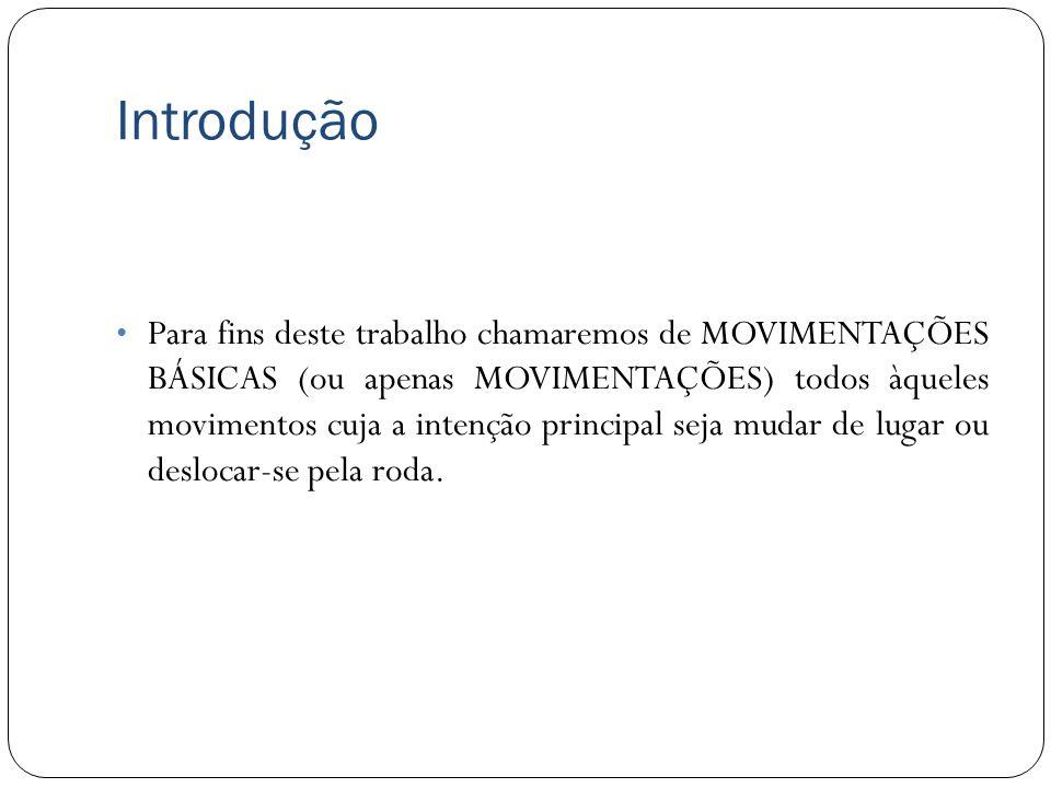 Introdução Para fins deste trabalho chamaremos de MOVIMENTAÇÕES BÁSICAS (ou apenas MOVIMENTAÇÕES) todos àqueles movimentos cuja a intenção principal s