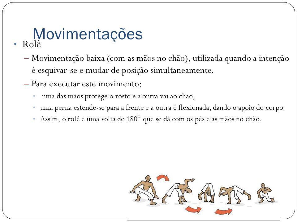 Movimentações Rolê – Movimentação baixa (com as mãos no chão), utilizada quando a intenção é esquivar-se e mudar de posição simultaneamente. – Para ex