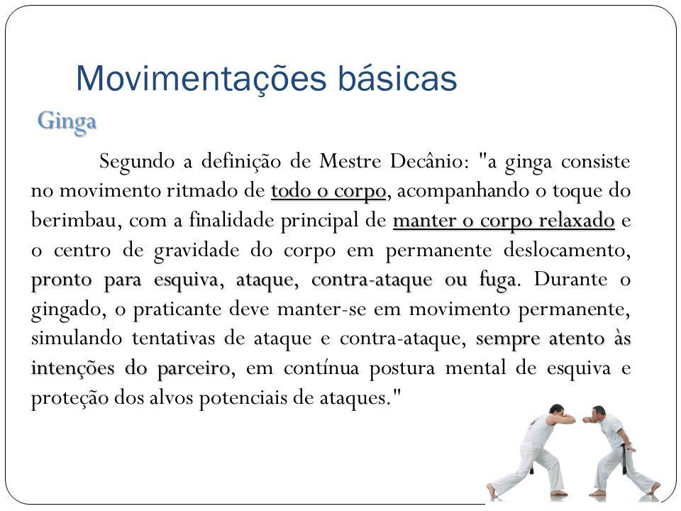 Movimentações básicas todo o corpo manter o corpo relaxado pronto para esquiva, ataque, contra-ataque ou fuga sempre atento às intenções do parceiro S