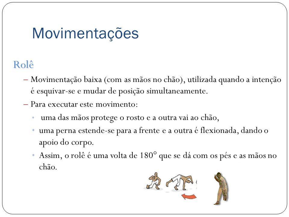 Conclusão Em relação as movimentações básicas: sem os movimentos básicos o capoerista tornaria-se um alvo fácil, além de ter dificuldades em aplicar os seus golpes.