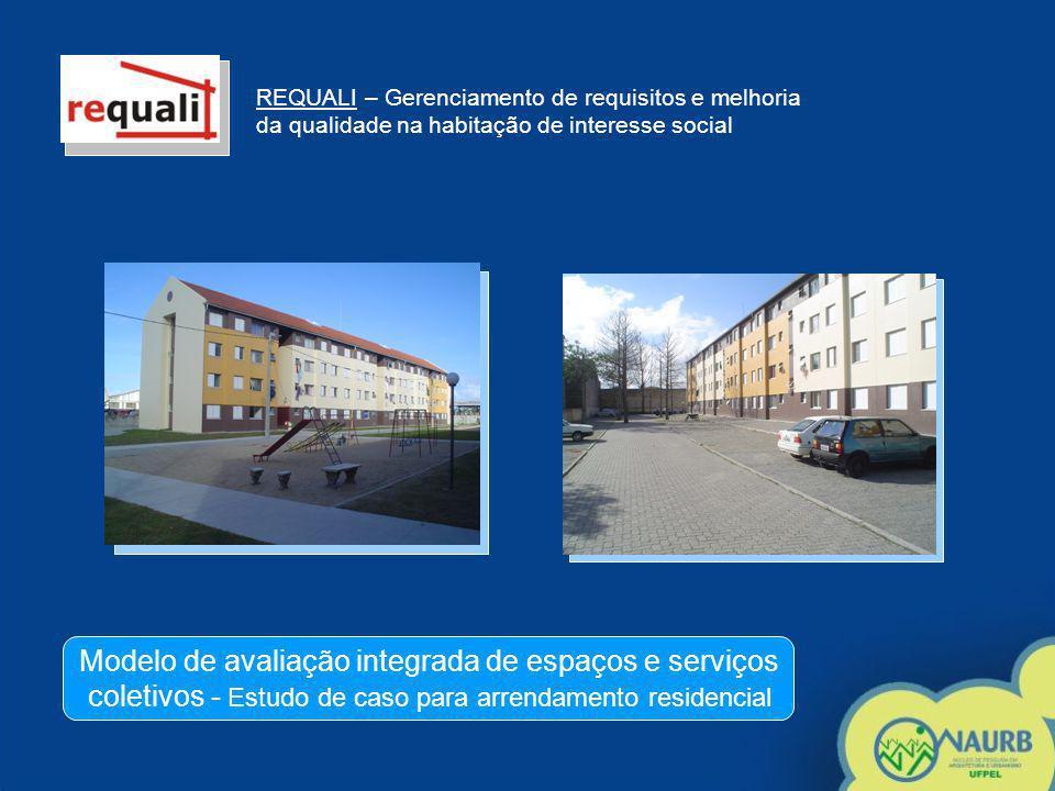REQUALI – Gerenciamento de requisitos e melhoria da qualidade na habitação de interesse social Modelo de avaliação integrada de espaços e serviços col