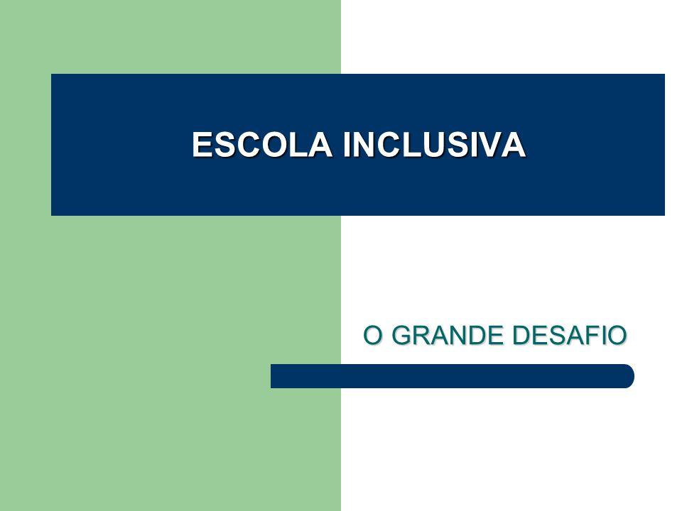 O GRANDE DESAFIO O GRANDE DESAFIO ESCOLA INCLUSIVA