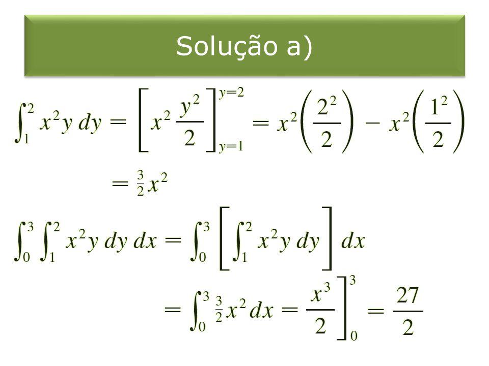 Solução a)