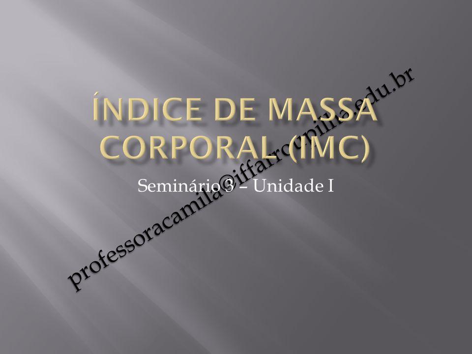 professoracamila@iffarroupilha.edu.br Seminário 3 – Unidade I