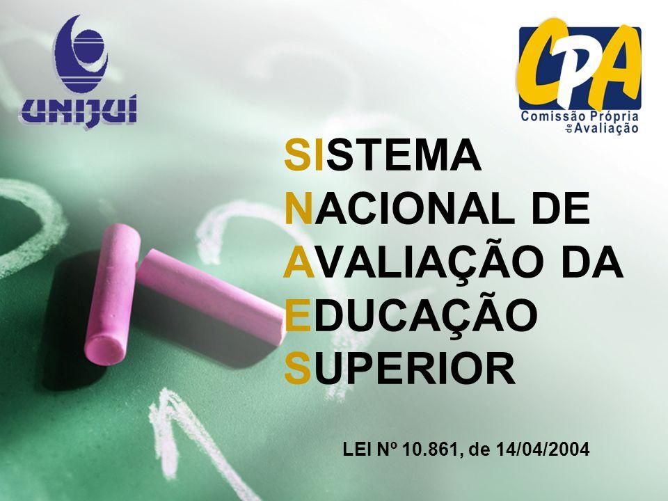 SISTEMA NACIONAL DE AVALIAÇÃO DA EDUCAÇÃO SUPERIOR LEI Nº 10.861, de 14/04/2004