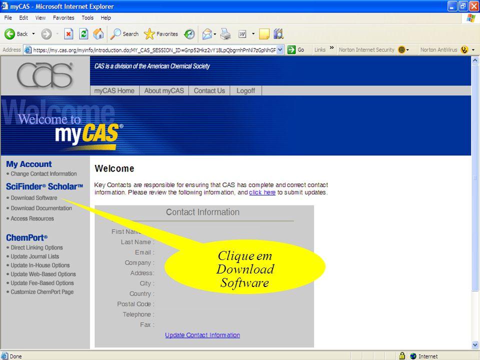 Clique em Download Software