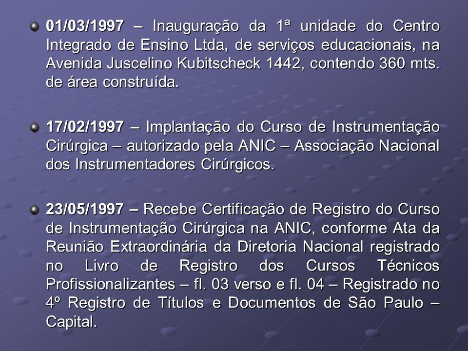 2002 ANO - CIE - TERCEIRA SEDE - 26 salas 3 laboratórios E demais dependências
