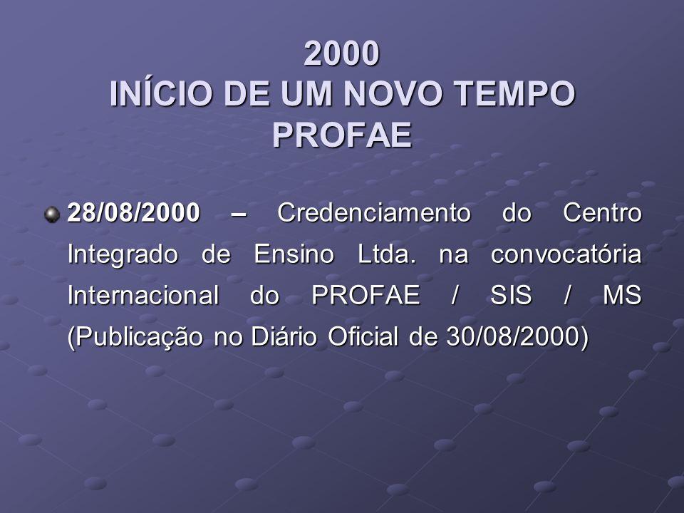 2005 Início da construção do Campus Vestibular para os novos Cursos