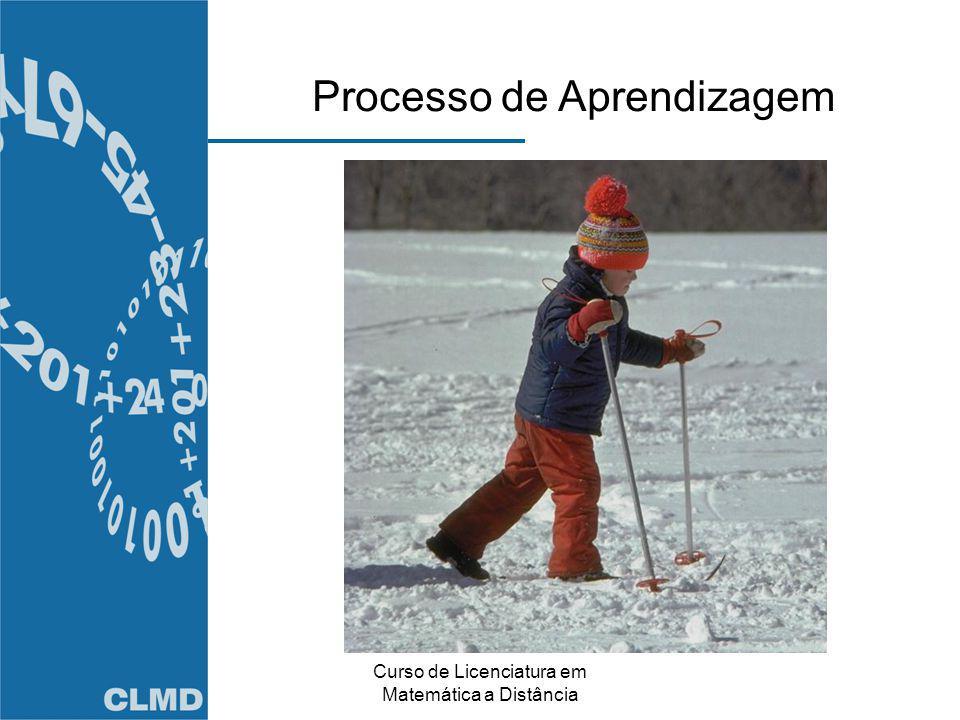 Curso de Licenciatura em Matemática a Distância Processo de Aprendizagem