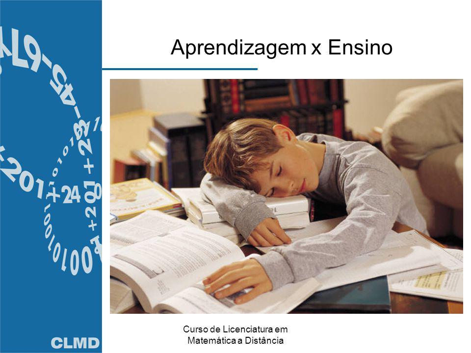 Curso de Licenciatura em Matemática a Distância Aprendizagem x Ensino