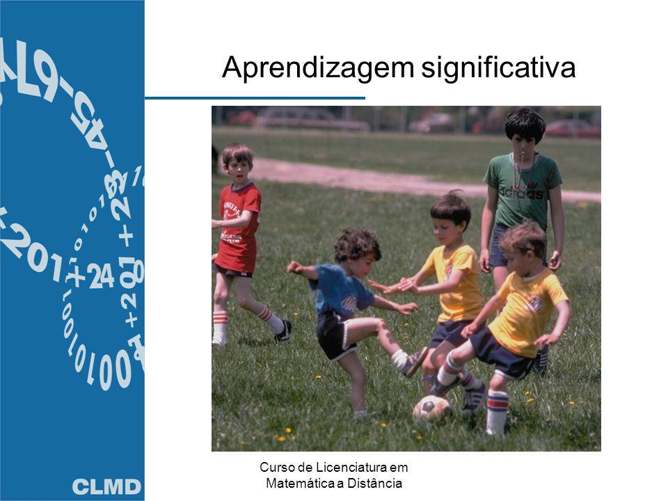 Curso de Licenciatura em Matemática a Distância Aprendizagem significativa