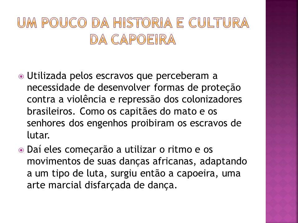Como a prática da capoeira era proibida no Brasil em 1930, por acharem muito violenta e subversiva.