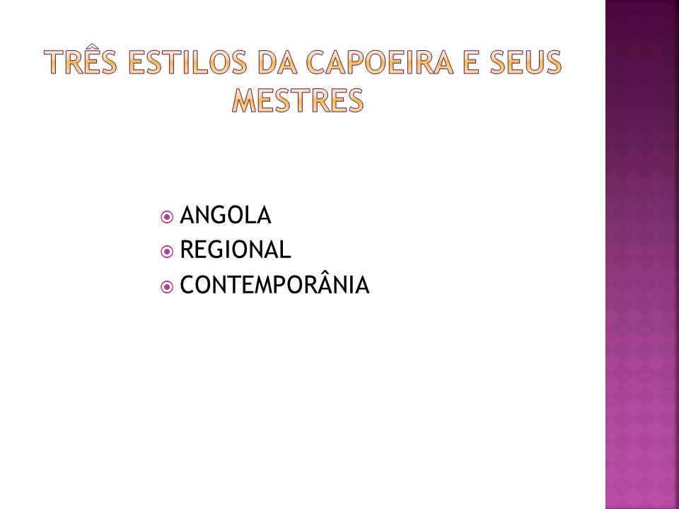 ANGOLA REGIONAL CONTEMPORÂNIA
