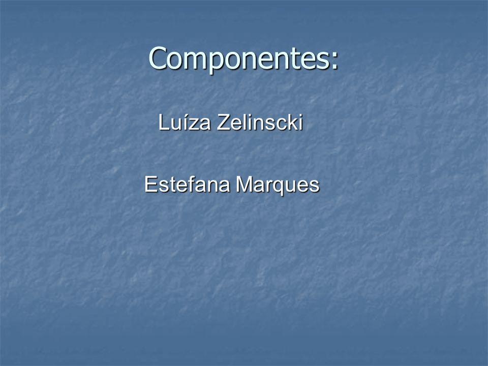 Componentes: Luíza Zelinscki Luíza Zelinscki Estefana Marques Estefana Marques