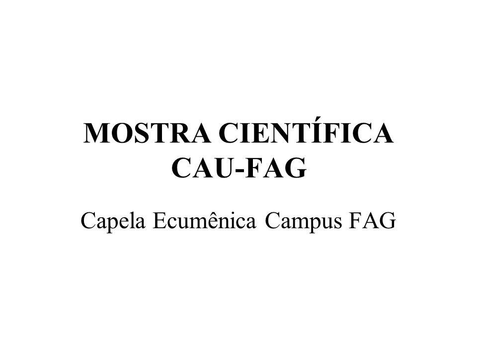 Programa básico: Estudo preliminar de arquitetura composto por edifício destinado para Capela Ecumênica, a ser construída no Campus da FAG, próxima à entrada do Campus, no inicio da Gran Via, de acordo com o programa contendo: