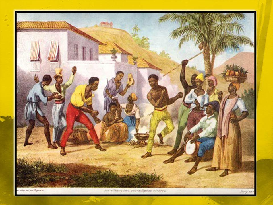 Os golpes violentos da capoeira que na maioria das situações dava em morte eram dados pelos escravos nos seus patrões, nos feitores das senzalas e nos capitães da mata para fugirem para os quilombos.