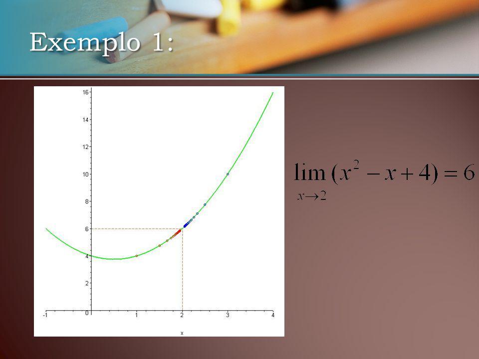 Exemplo 2: F(x) 1,94861,994981,999499?2,00049982,0049872,04880 X -0,1-0,01-0,00100,0010,010,1