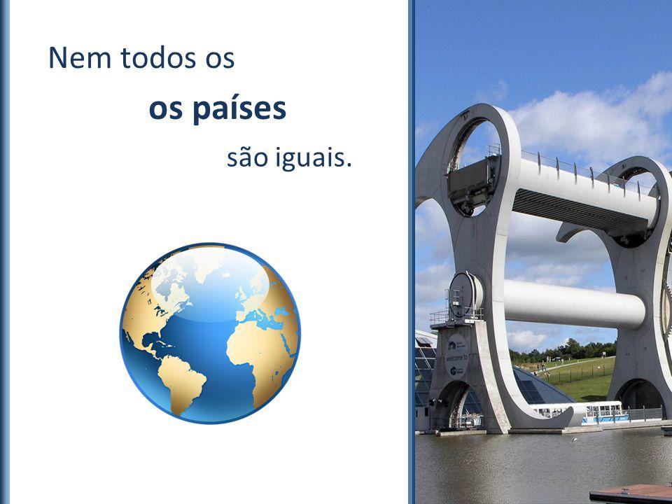 Entretanto as Nem todos os E podem servir metas ao Brasil. melhores práticas existem… como são iguais. os países E nenhum infraestrutura possui ideal.