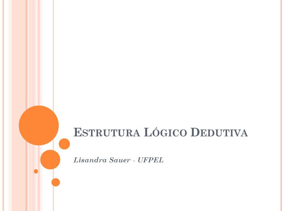 E STRUTURA L ÓGICO D EDUTIVA Lisandra Sauer - UFPEL