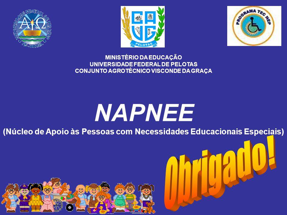 NAPNEE (Núcleo de Apoio às Pessoas com Necessidades Educacionais Especiais) MINISTÉRIO DA EDUCAÇÃO UNIVERSIDADE FEDERAL DE PELOTAS CONJUNTO AGROTÉCNIC