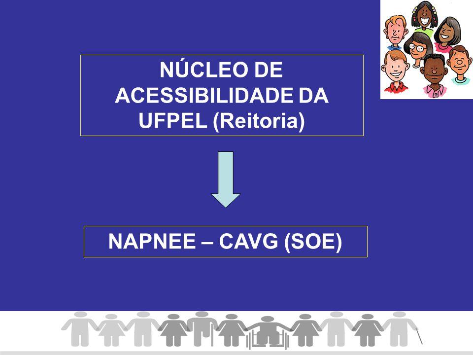 NÚCLEO DE ACESSIBILIDADE DA UFPEL (Reitoria) NAPNEE – CAVG (SOE)