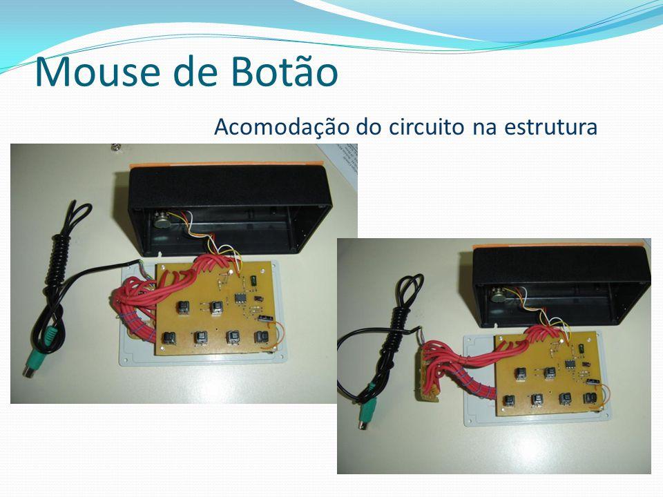 Mouse de Botão Acomodação do circuito na estrutura