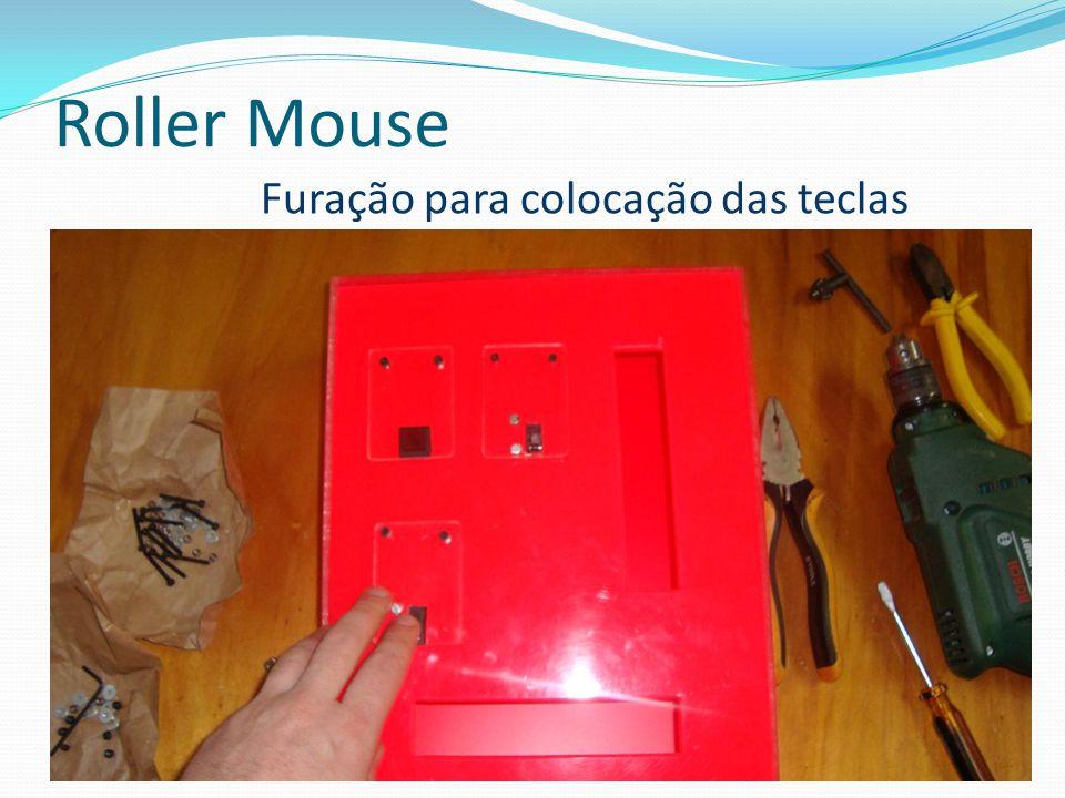 Roller Mouse Furação para colocação das teclas