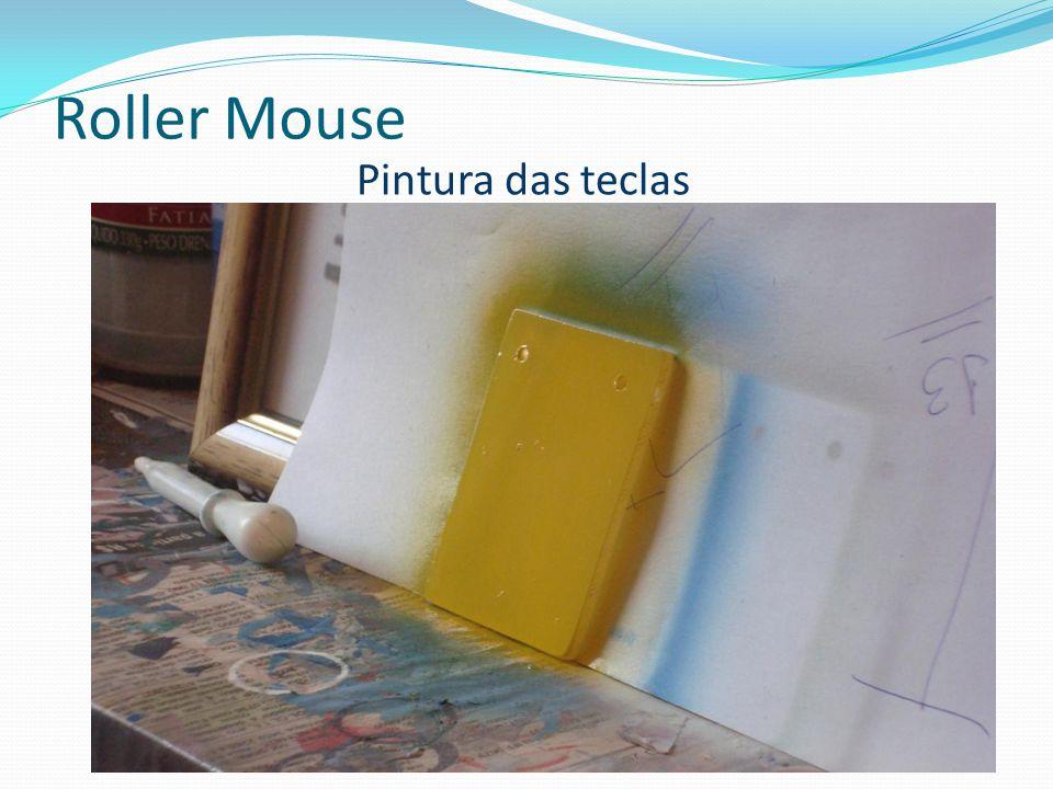 Roller Mouse Pintura das teclas