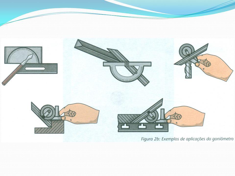 Cálculo da resolução Na leitura do nônio, utilizamos o valor de 5 (5 minutos) para cada traço do nônio.