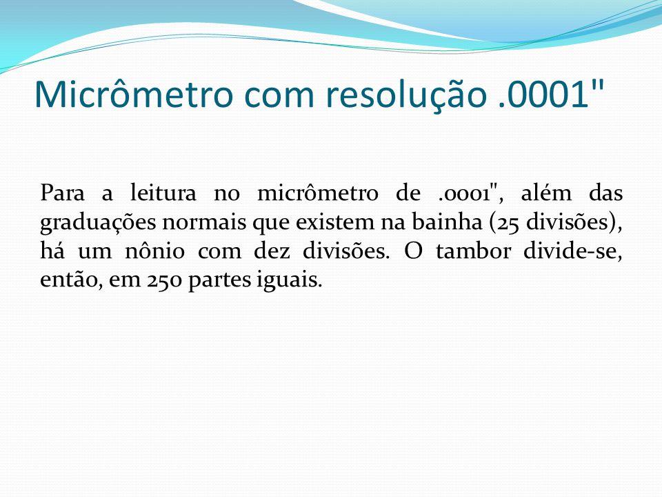 Micrômetro com resolução.0001