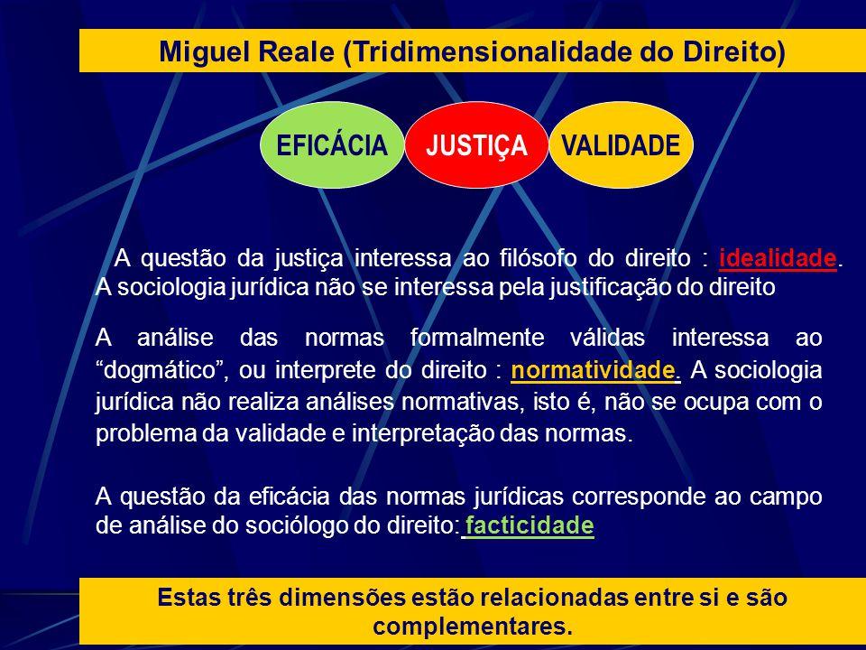 A questão da justiça interessa ao filósofo do direito : idealidade. A sociologia jurídica não se interessa pela justificação do direito A análise das