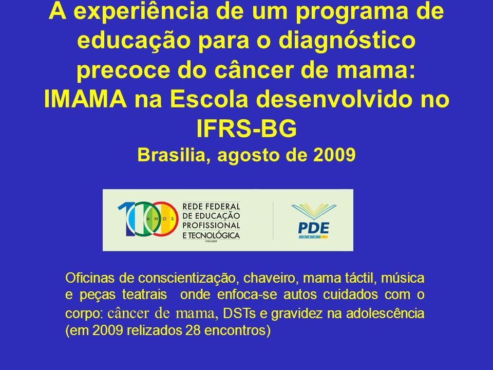 Sul A experiência de um programa de educação para o diagnóstico precoce do câncer de mama: IMAMA na Escola desenvolvido no IFRS-BG Brasilia, agosto de
