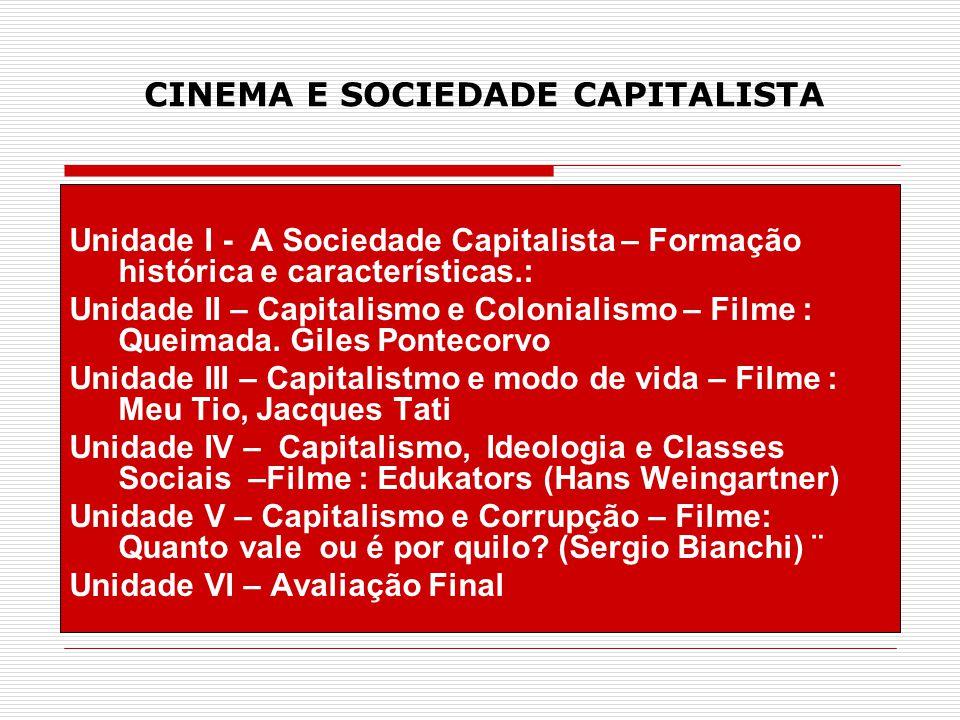 CINEMA E SOCIEDADE CAPITALISTA Unidade I - A Sociedade Capitalista – Formação histórica e características.: Unidade II – Capitalismo e Colonialismo –
