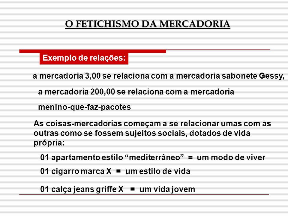 Exemplo de relações: a mercadoria 3,00 se relaciona com a mercadoria sabonete Gessy, a mercadoria 200,00 se relaciona com a mercadoria menino-que-faz-
